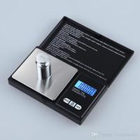 ingrosso diamante pesa grammo scala-I mini gioielli elettronici della scala numerica di Digital pesano le bilance dell'esposizione LCD della grammo della tasca dell'equilibrio della bilancia con la scatola al minuto 500g 0.1g 200g 0.01g