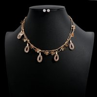 имитационные колье оптовых-2019 New Pearl  Jewelry Sets For Women Geometric Multilayer Chain Choker Necklace Imitation Pearl Earrings Bijoux NE+EA