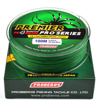 Wholesale 100 Meters Green Fishing Line Weaves Braided Fishing Line Available LB LB PE Line Pesca Fishing Tackle Accessories