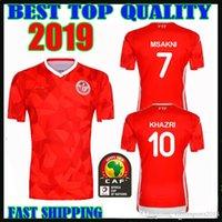 ben jerseys achat en gros de-2019 2020 Tunisia Maillots 7 Msakni 10 Khazri 23 Sliti 19 20 Coupe d'Afrique Wahbi Khaoui FAKHREDDINE BEN YOUSSE HAMZA domicile Maillot de foot