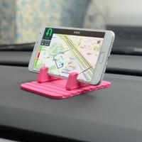 rutschmatten für handys großhandel-Whosale Autohalterung Handyhalter Ständer GPS Soft Silikon Anti Slip Mat Desktop Ständer Halterung Drop Shipping