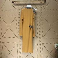 pist ışığı toptan satış-2019 Işık Deve Uzun kadın Elbise Yüksek Son Kapalı Omuz Uzun Kollu Elbiseler Bayan Milan Pist Elbiseler 172829