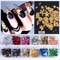 Wholesale mirror sequins for sale - Group buy Full Beauty Grids Sets Nail Glitter Sequin Mixed Mirror Mermaid Sugar Round DIY Flake Paillette Nail Art Decorations CH067