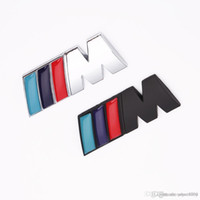 ingrosso badge bmw-1 pc / lot raffredda la decorazione Auto distintivo dell'automobile Adesivi logo M metallo 3D autoadesivo dell'automobile per BMW M3 M5 X1 X3 X5 X6 E36 E39 E46 E30 E60 E92