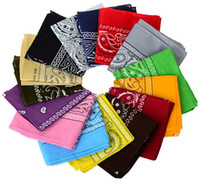 Wholesale printing handkerchief for sale - Group buy 54 CM Cotton Novelty Double Sided Print Paisley Bandanas Cowboy Bandana Handkerchiefs Paisley Print Head Wrap Scarf