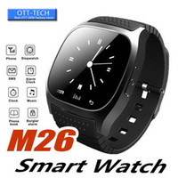 Wholesale wireless remote control for alarm resale online - M26 Smart Watch Phone Bracelet Camera Remote Control Anti lost alarm Barometer V8 A1 U8 Wristband for IOS Android Wireless Bluetooth Watch