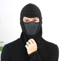Wholesale ski face masks hats for sale - Group buy Cycling Winter Fleece Warm Full Face Cover Anti dust Windproof Ski Mask Snowboard Hood Anti dust Bike Thermal Balaclavas Scarf