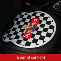 Wholesale free car seat covers resale online - Universal car seat cushion summer hot sale Auto chair pad fashion confort cushion seat cover front seats
