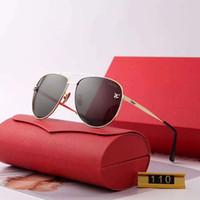 gafas modelo mujer al por mayor-Metal Hombre Mujer Diseñador Gafas de sol Moda Gafas de sol Gafas de conducción de automóviles Gafas de protección solar UV400 Modelo 110 5 colores de alta calidad con caja