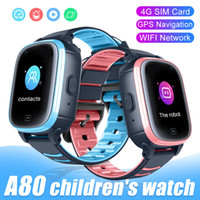 Wholesale wifi calling for sale - Group buy A80 Children Smart Watch GPS WiFi SOS Video Call IP67 Waterproof Camera G SIM Kids Smartwatch Baby Safe Tracker