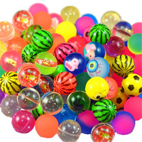 Wholesale decorative paper ball resale online - 25mm Elastic Ball Rubber Buoyancy Colourful Cartoon Animal Bouncing Balls Children Water Swim Toys Hot Sale qd UU