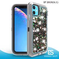 iphone schwimmender glitterfall großhandel-Für iphone 11 Pro X XS XR MAX 8 7 PLUS Fall Fließen Flüssig Schwimmdock LuxuxBling Funkeln-Schein-TPU Stoßfall für Samsung S10 HINWEIS 10 PRO