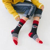 chaussettes drapeau national achat en gros de-2020 Trump America Drapeau national Stars Stripes Chaussettes Chaussettes Casual Casual Chaussettes Happy Cotton