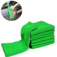 Wholesale microfiber cleaning bag for sale - Group buy 10PCS bag Hot Sale New Soft Auto Detailing Green Microfiber Car Towel Wash Detailing Towel Cleaning Duster For Car Cleaning