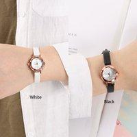 elmas tasarım bilezikleri toptan satış-Kadın Izle Moda Elmas Tasarım Saatı Küçük Kadran Kadın Bilezik Saatler Üst Marka Kuvars Deri Bayanlar İzle Hediyeler