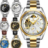 ingrosso orologio da polso design-Migliori orologi da uomo Meccanico in acciaio inossidabile Movimento automatico di design di lusso orologio sportivo da polso orologi di design orologi nave di caduta