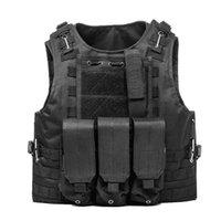 ingrosso gilet tattica-Gilet tattico Army Airsoft Molle Vest Combat Hunting Vest con pouch Assault Plate Carrier CS Outdoor Attrezzature giungla