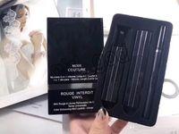 ingrosso matita del rossetto di marca-NUOVO Famoso Set di Trucco di Marca Noir Couture Rossetto Opaco + Mascara + Eyeliner Matita Set Maquillage Trucco Viso 3 in 1 kit