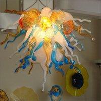 ingrosso ha condotto la luce del pendente di cristallo della sfera-votive Unico lampadari tradizionali casa decorativo Multi colore sfera lampadario luce lampada a sospensione a buon mercato moderna di cristallo del pendente della sfera