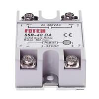 módulo de relé de estado sólido al por mayor-Monofásico DC 3-32V a AC 24-380VAC SSR-40DA 40A Módulo de relé de estado sólido