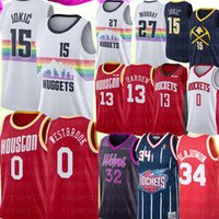 jersey 27 baloncesto al por mayor-NCAA baloncesto universitario camisetas jerseys James 13 Harden Jersey University Nikola 15 Jokic Derrick 25 Rose Carmelo Anthony Chris Paul