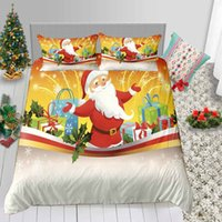 Wholesale blue christmas bedding for sale - Group buy Cartoon Print Bedding Set Single Christmas D Duvet Cover King Gifts Classic Queen Full Twin Double Bed Cover with Pillowcase