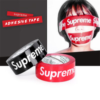 verpackungsklebebänder großhandel-Sup Klebebänder Trend Packband Trend DIY rot schwarz personalisierte Klebeband Dichtband Verpackungsbänder Carton Sealing gebündelt