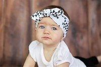 Wholesale christmas hair bows for babies for sale - Group buy Baby Girl Headbands and Bows For Newborn Fahion Kids holiday Cotton headbands Children boutique hair accessories Bunny Ear Hairbands KHA116