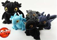 поезд дракон беззубый чучело животных оптовых-20 см (8 дюймов) Как приручить дракона 3 плюшевые игрушки беззубый свет ярость мягкий Дракон чучела животных кукла