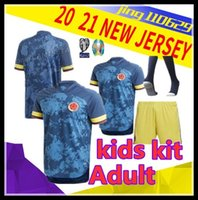 Wholesale james rodriguez jersey resale online - S XXLAdult kids kit Colombia jersey Thai quality JAMES home away soccer jerseys Rodriguez FALCAO Camiseta de futbol CUADRADO Foo