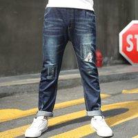 çocuklar için giyim giysileri toptan satış-2019 Moda Teen Boy Jeans Gençler Bahar Çocuk Denim Pantolon Çocuk Genç Erkek Giyim 3 Şubat-14 Ekim 15 yaşında Fall için