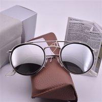 солнцезащитные очки uva uvb оптовых-Горячая дизайнер бренда клуб UVA UVB солнцезащитные очки Круглые мужчины солнцезащитные очки Женщины открытый ретро солнцезащитные очки Гафас-де-соль с футляром и коробкой