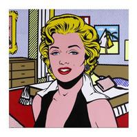 Wholesale marilyn monroe canvas prints resale online - Roy Lichtenstein Comic Marilyn Monroe High Quality HandPainted HD Print Portrait Wall Art Oil Painting On Canvas Home Decor Multi sizes