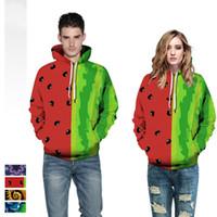 dessus de pastèque achat en gros de-4 Style Watermelon Floral Plant All Over Imprimer 3D Hoodies Hommes Femmes Unisexe Mode 3D Sweats À Capuche Tops Plus La Taille Dropship