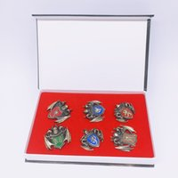 Wholesale game thrones brooches resale online - Game of Thrones Daenerys Targaryen Metal Family Sign Necklace Pendant Key Buckle Brooch Suit Ornament Collection of Gifts MMA2040