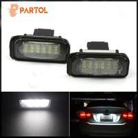 светодиодный экстерьер автомобиля оптовых-12 В LED освещение номерного знака лампы для Mercedes Benz W203 W211 автомобилей внешние аксессуары номерного знака огни качество