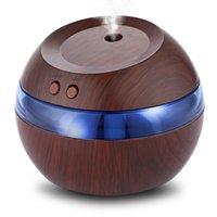 hava nebülizörü toptan satış-300 ml Hava Aroma Esansiyel Yağı Difüzör USB Ultrasonik Nemlendirici Mavi LED Aroma Parfüm Difüzör Makinesi Nebulizatör Spa