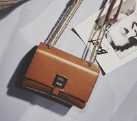 Wholesale metal body chains resale online - Cheap quality women Crossbody x14x8cm small single chain bags metal hasp pu shoulder bags cost prices to build hot sale