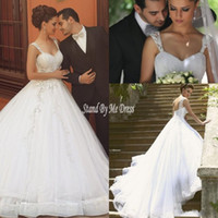 5c962118c8a 2019 старинные бразильские кружева спинки свадебные платья Sheer Cap рукава  бисером вышивка аппликации сад свадебное платье с часовня поезд