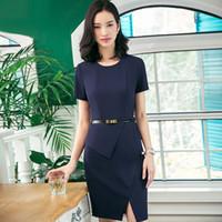 Wholesale beauticians uniforms online - Summer Wear Short Sleeve Occupation Dress Will Code Clothes Beautician Jewelry Store Work Uniform