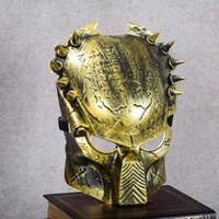 костюмы на день дураков в апреле оптовых-1Pc Predator маски Halloween Horror Маскарад Необычные платья партии Cosplay костюм Страшные маски для «s Day Party Mask первоапрельская