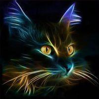 bild karikatur katze großhandel-Mode Kleine schwarze Katze DIY Diamant-Paintings 5D Diamanten Stickerei-Anstrich für Wohnzimmer Dekorationen Craft 8 5yb E1