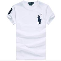 mans polo tişörtleri toptan satış-Ralph Lauren'in polos erkek t shirt popüler tshirt lüks tasarımcı Ralph gömlekler en kaliteli adam polo açık hava eğlence pamuk tişörtleri tişörtleri
