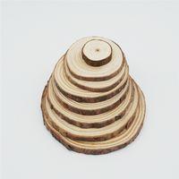 holz brief armbänder großhandel-30-40mm 40-50mm 50-60mm 60-70mm 70-80mm 80-100mm Natürliche Kiefer Holzspäne Perlen Runde Holz DIY Malerei und Fotomaterial