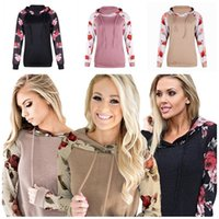 Wholesale mixed color sweater for sale - Group buy Ladies Hoodies Sweater Printing Color Mix Loosing Frenulum Sleeve Head Sweatshirts Casual Spring Home Clothing New Arrival30 lh E1