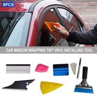 ingrosso utensili da finestra-8 PCS Pellicola protettiva per vetri per auto Finestratura per auto Tinta Vinile Attrezzo per l'installazione, compresi i raschiatori Raschiatori per pellicole