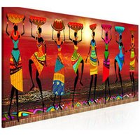 Wholesale painting women dancing resale online - African Women Dancing D Diy Diamond painting rhinestones cross stitch hobby mosaic picture embroidery icon JS4180