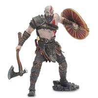 kratos dios guerra figura al por mayor-18cm Juego de juguetes NECA God of War 4 Kratos PVC figura de acción Fantasma de Sparta Kratos modelo de muñeca de colección 7