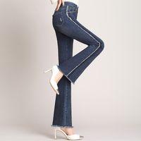 ingrosso lunghezza dei capelli delle donne-pantaloni alla caviglia donna jeans 2019 primavera nuovi pantaloni da donna capelli lavati trim Sottile sottile micro pantaloni b25