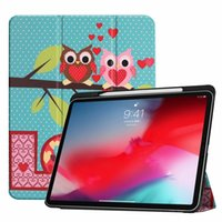 Wholesale leather inch tablet sleeve for sale - Group buy Auto Sleep Wake Cartoon Owl Fold Wallet Leather Case For Ipad Pro Inch tablet Sky Star Tower Don t Touch Me Smart Skin Cover